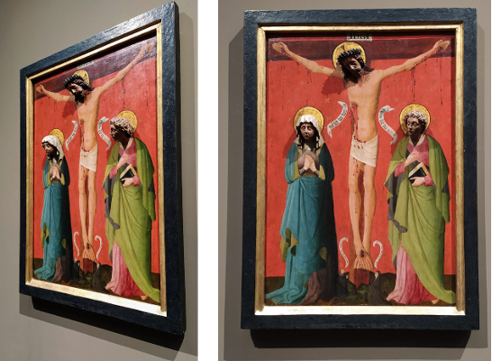 "Figure 1. ""Christ on the Cross between Mary and John"", around 1425-1435, collection Ferdinand Franz Wallraf- WRM 57"