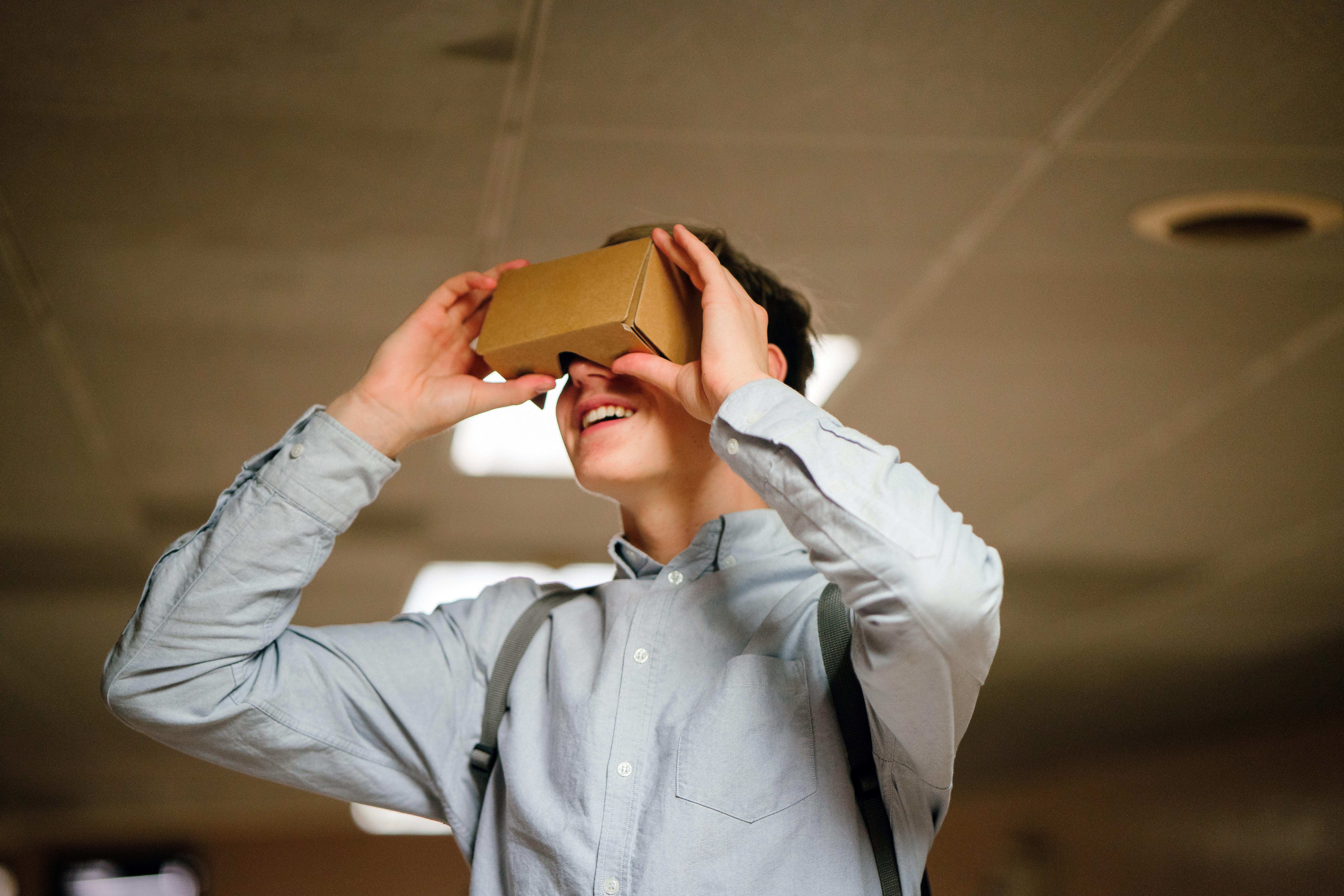 Cardboard to experience Virtual Reality