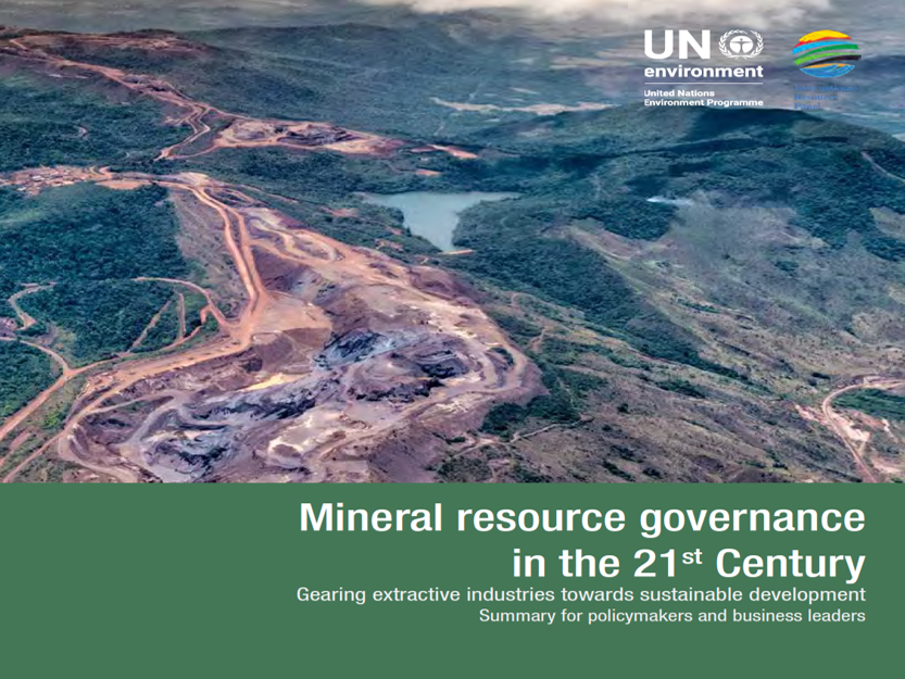 UNEP International Resource Panel report on Mineral resource governance in the 21st century