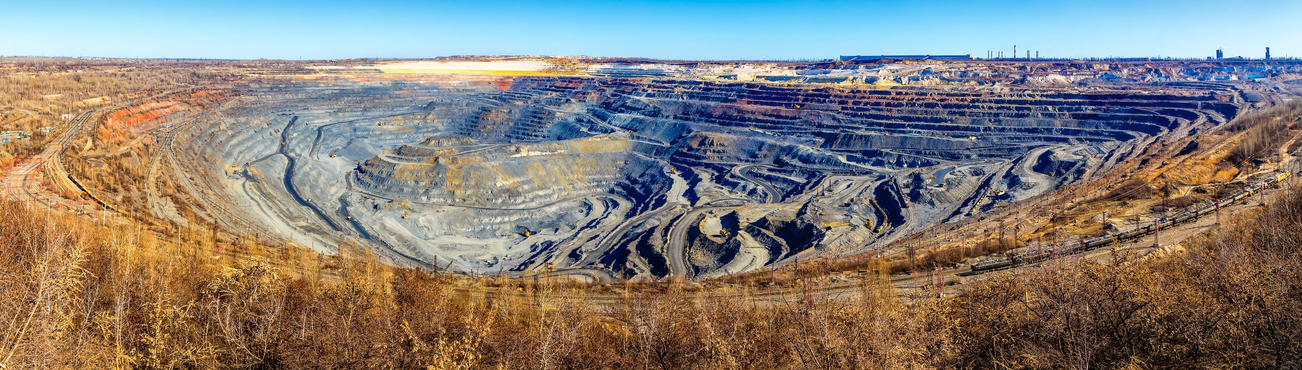 World's largest open pit iron ore mine near the town of Gubkin, Russia  T Door Timofeev Vladimir